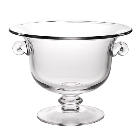 $109.00 Champion European Mouth Blown Crystal 11 inch Trophy or Centerpiece Fruit Bowl