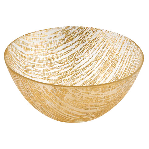 $39.95 Secret Treasure Handcrafted Glass Bowl D 11""