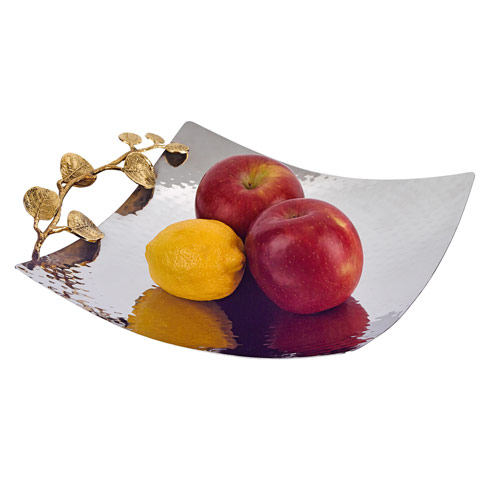 Square Stainless Steel and Brass Platter