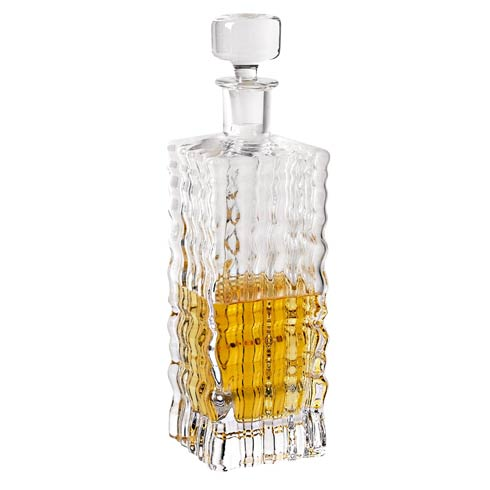 Badash  Pitchers Decanters & Ice Buckets The Ripples European Mouth Blown Lead Free Crystal Decanter  -  28 oz. $79.00