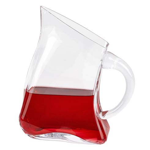 Celina Unique Flat Design Lead Free Crystal Pitcher