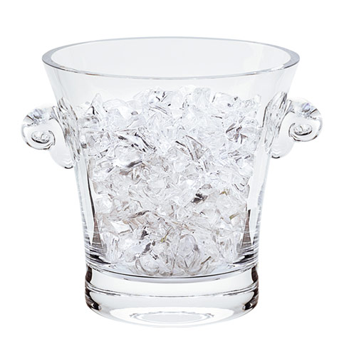 $59.00 Chelsea Mouth Blown Thick Sham Crystal Ice Bucket  H6.5x D6""