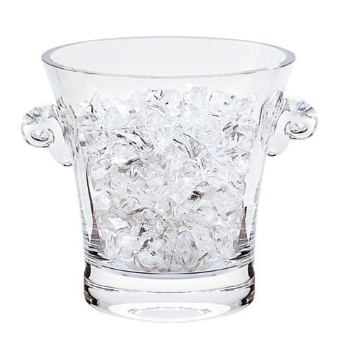 "$65.00 Chelsea European Mouth Blown Lead Free Crystal Ice Bucket  7X7"""