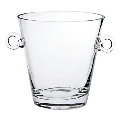 "$89.00 Manhattan European Mouth Blown Lead Free Crystal Cooler 9"" with Ring Handles"
