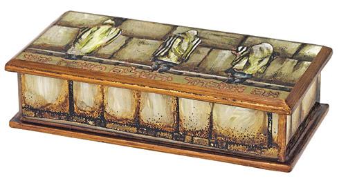 $65.00 Reverse painting on Glass Jerusalem  Keepsake or Remote Box