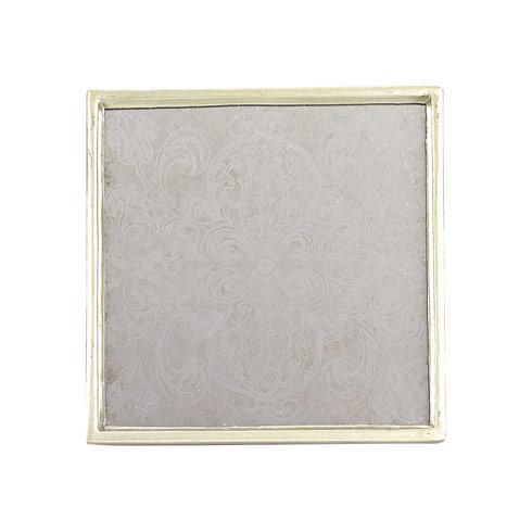 Manta Silver 4 Piece Coaster Set
