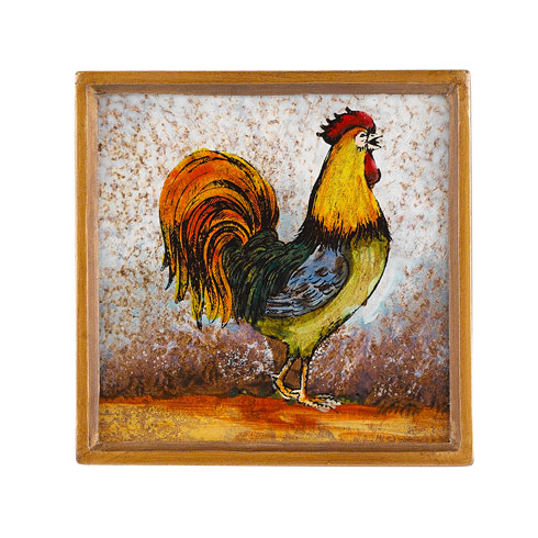 Rooster 4 Piece Coaster Set