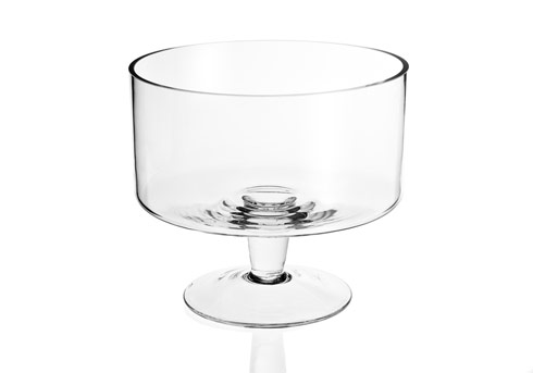 $49.95 Lexington Mouth Blown Glass Trifle Bowl 9""