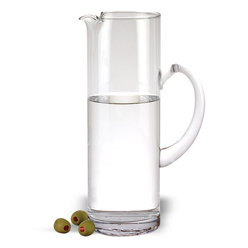 "$29.95 Celebrate Handmade Glass Pitcher H9.75"" - 48 oz."