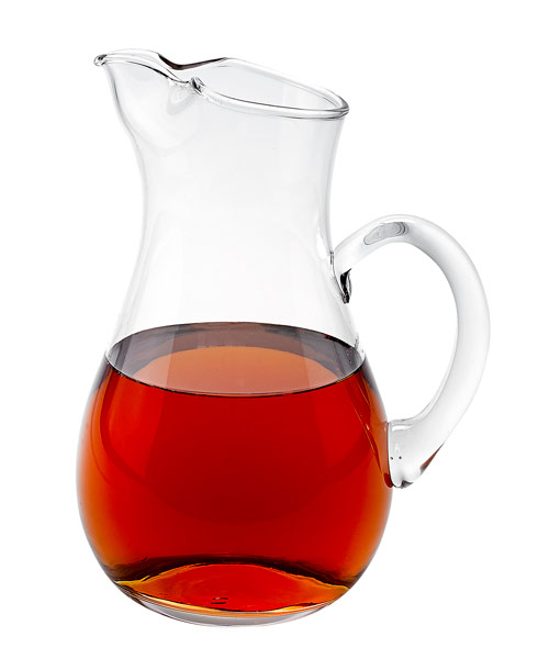 "$34.95 Zeus Handmade Glass Pitcher H10"" -  36 Oz."