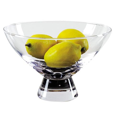 """$29.00 Plato Handmade Glass Pedestal Bowl  D9 x h5.5"""""""