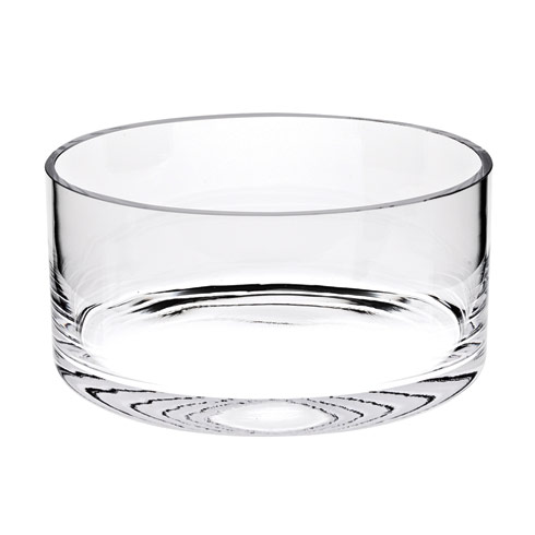 "Manhattan European Mouth blown Lead Free Crystal  8"" Classic Cylinder Bowl"
