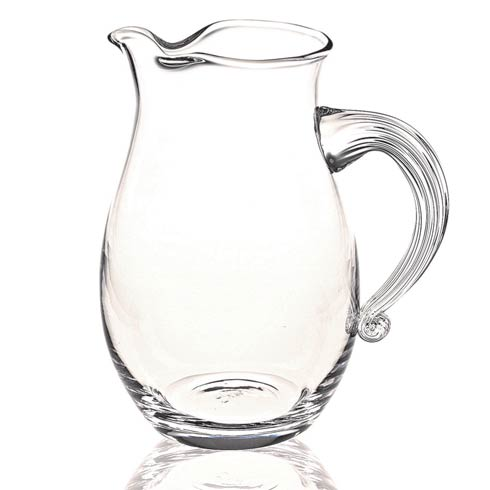 $65.00 The Classic European Mouth Blown Lead Free Crystal Geneva Pitcher