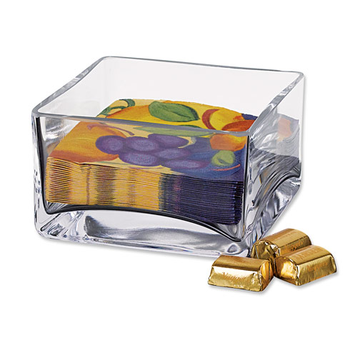 "Badash  Decor Sahara Square 5.5 x H3.25""  Bowl or Cocktail Napkin Holder $38.95"