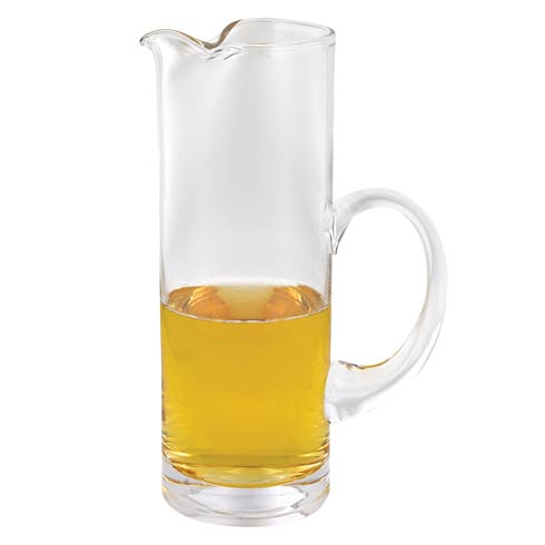 "$48.00 European Mouth Blown Lead Free Crystal  54 oz, 11"" Cylinder Shape Iced Tea, Juice  or Martini Pitcher"