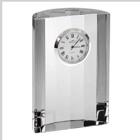 $59.00 Half Moon Crystal Clock  H4.5X3.5""