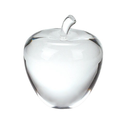 "$49.00 Crystal Apple 3.5"" Tall"