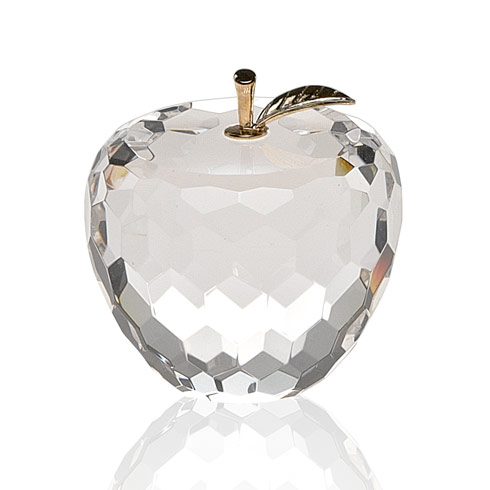 $44.95 Apple Paperweight with Gold Leaf