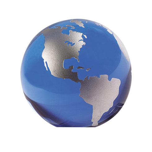 Blue And Silver Globe