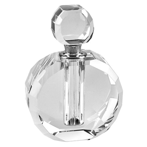 $39.00 Zoe Round Crystal Perfume Bottle  H4""