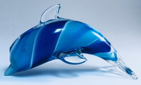 "$45.00 Murano Style Art Glass 8"" Tricolore Cubed Centerpiece"