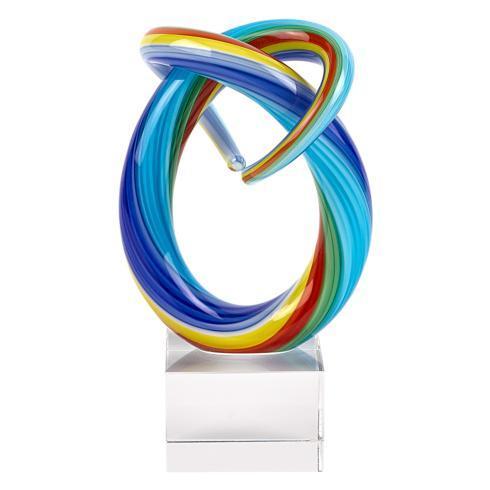"Badash  Murano Style Artistic Glass Decor Mini Rainbow Centerpiece 6"" Tall $39.95"