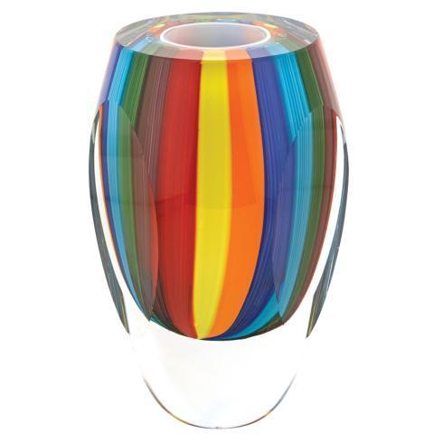 "$49.95 Rainbow 6"" Vase"