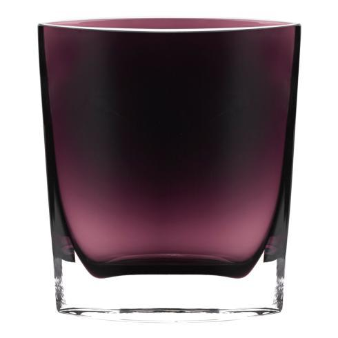 "$89.95 Samantha European Mouth Blown 8"" Amethyst Vase"