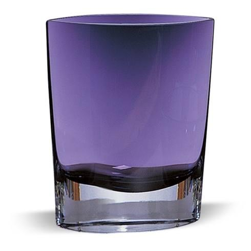 "$89.00 Samantha Violet European Mouth Blown Glass  8"" Vase"