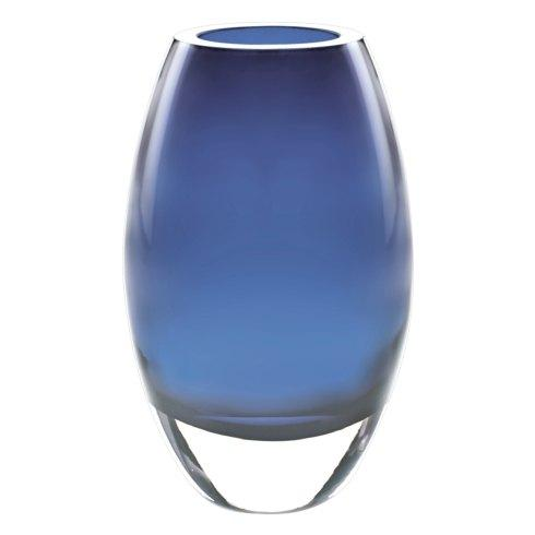 "$119.00 Radiant Midnight Blue European Mouth Blown Crystal 9"" Vase"