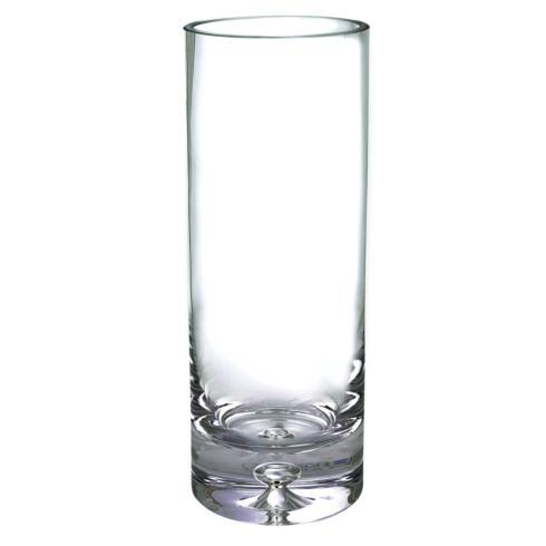 "$79.00 European Mouth Blown Lead Free Crystal Cylinder Vase 12.25"" X 3"""
