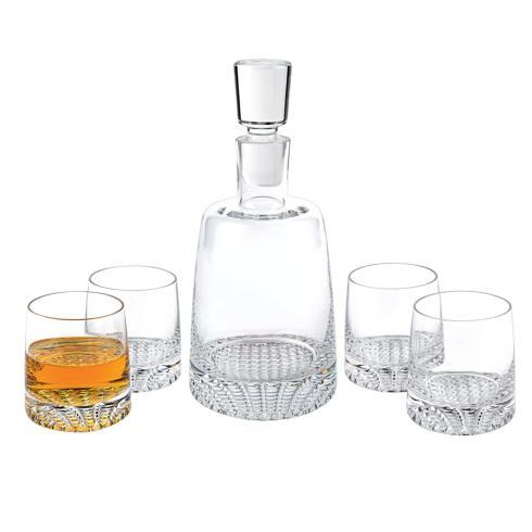 $109.95 Park Avenue European Mouth Blown Lead Free Crystal Park Avenue 5 Pc. Whiskey Set