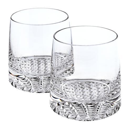 $48.00 Park Avenue European Mouth Blown Lead Free Crystal Park Avenue Whiskey Set 4 Pc Rocks or DOF Set