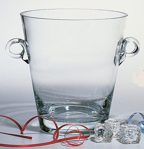 "$99.95 Manhattan European Mouth Blown Lead Free Crystal Cooler 9"" with Ring Handles"