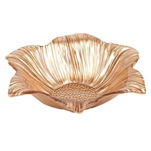 "$34.95 Daisy Gold 8""Glass Candy Bowl"