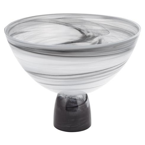$48.00 Milky Way Footed Alabaster Glass Centerpiece Bowl 10 x 7""