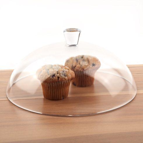 "Clear 12"" in Diameter Glass Cake Dome"