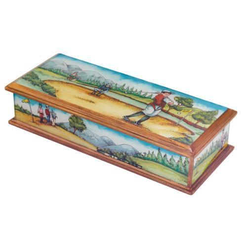 $65.00 Golf Scenery Handcrafted Jewelry or Keepsake Box