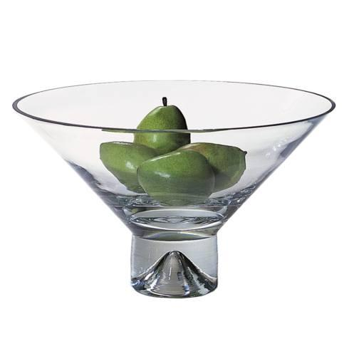$109.95 Monaco Pedestal Mouth Blown European Lead Free Crystal Fruit Bowl 12 in.