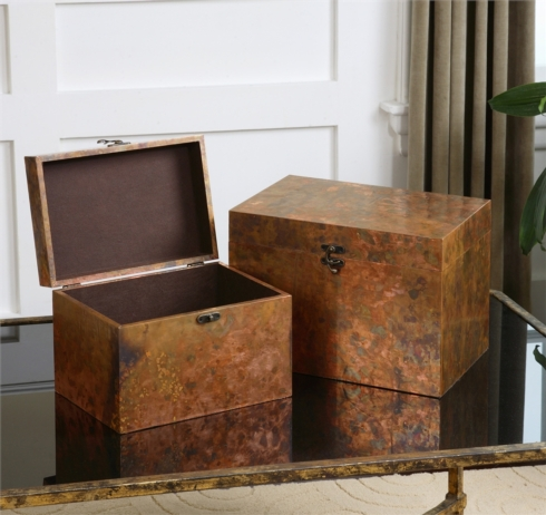 Uttermost   AMBROSIA COPPER BOX-LG $125.00