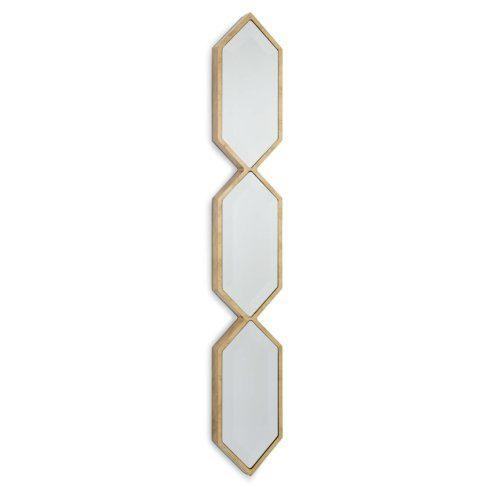 Barbara Stewart Exclusives   Triple Diamond Wall Panel Mirror $165.00