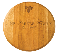 $145.00 OAK LAZY SUSAN-PERSONALIZED