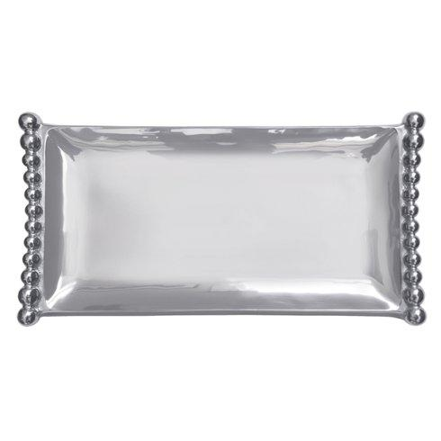 Barbara Stewart Exclusives   PEARLED FLANKED LARGE TRAY $148.00