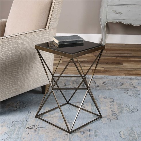 Uttermost   BRONZE ACCENT END TABLE $250.00