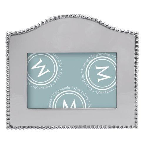 Barbara Stewart Exclusives   BEADED ARCHED HORIZONTAL 4 X 6 FRAME $49.00