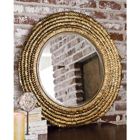 Barbara Stewart Exclusives   ROUND PETAL MIRROR $440.00