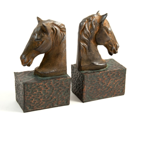 Barbara Stewart Exclusives   HORSE BOOKENDS $92.00