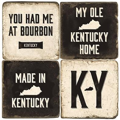 $55.00 KY HOME COASTERS W/ IRON STAND
