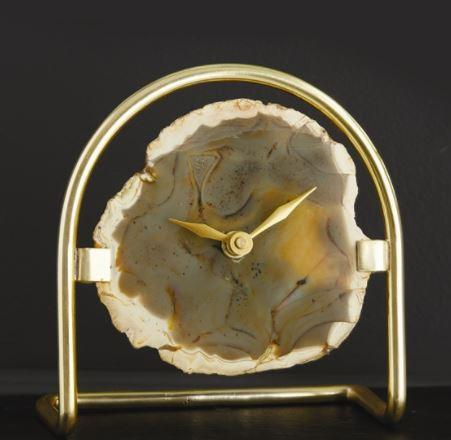 Two's Company   AGATE TABLE CLOCK $82.00