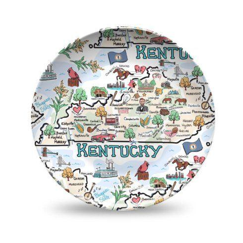 Barbara Stewart Exclusives   ROUND KY PLATE $30.00